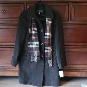 Women's Black Wool Coat (NWT)